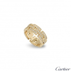 Cartier Yellow Gold Diamond Set Maillon Panthere Ring B4127100